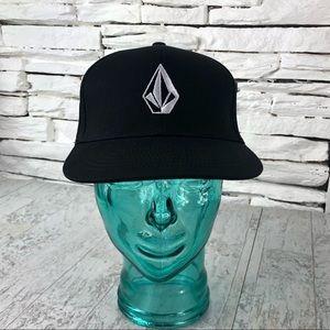 Volcom Logo Hat Snap Back Hat Black 1492